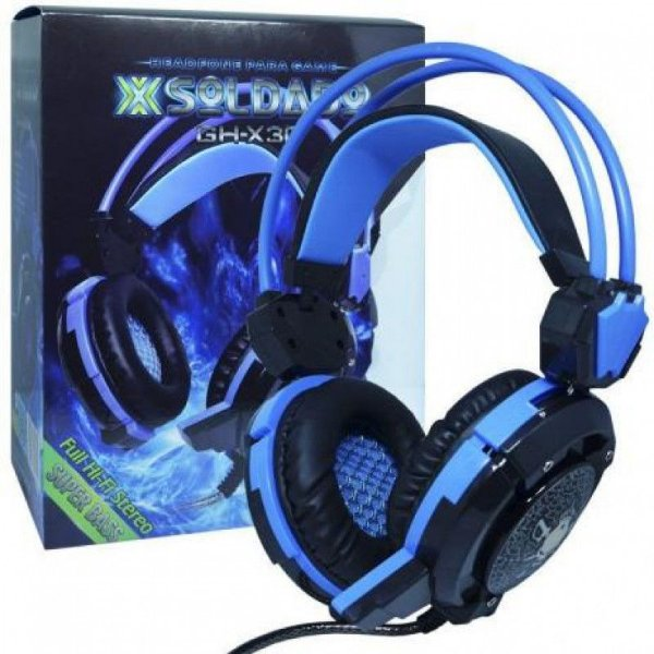 Headphone Gamer Fone X-soldado Gh-x30 Reforçado Usb E P2