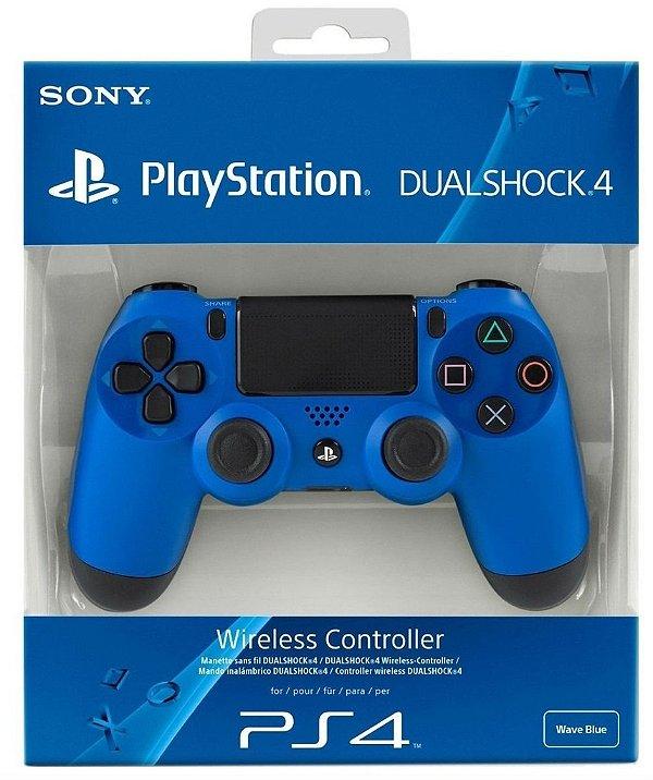 Controle Dualshock 4 (Azul) - PS4