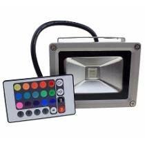 REFLETOR DE LED - 10W RGB (COLORIDO)