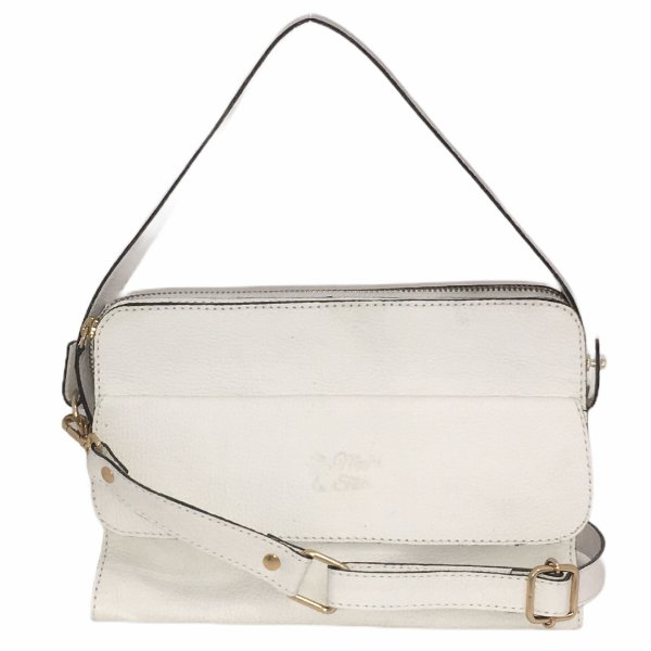 Bolsa de Couro Mini Bag Luna Branca