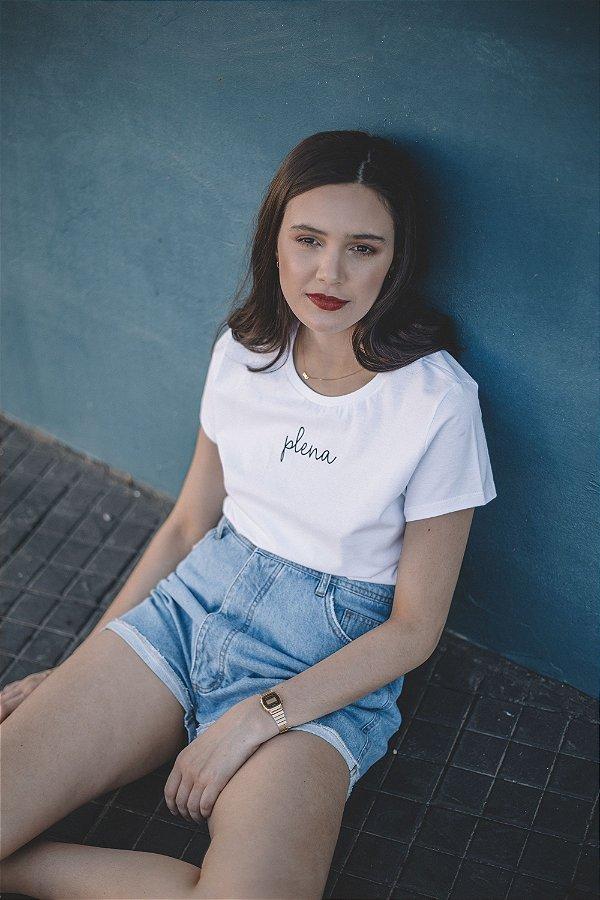 Camiseta Feminina Plena Minimalista Branca