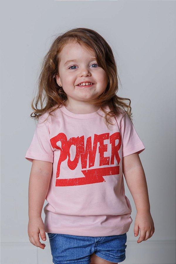 Camiseta Infantil Power Rosa