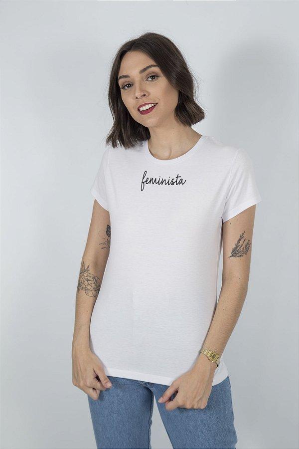 Camiseta Feminina Feminista Branca