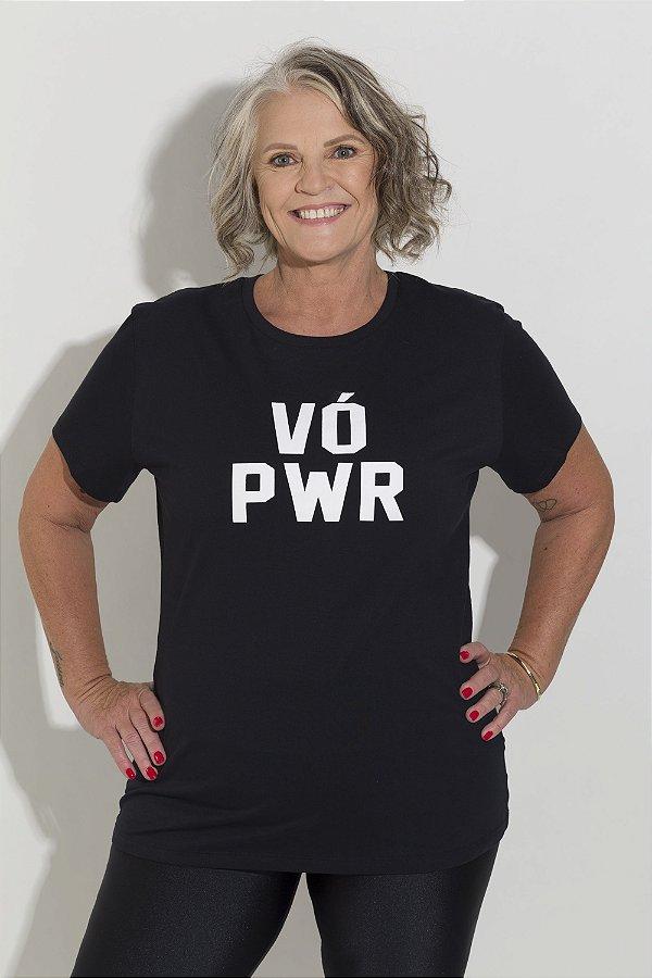 Camiseta Feminina VÓ PWR Preta