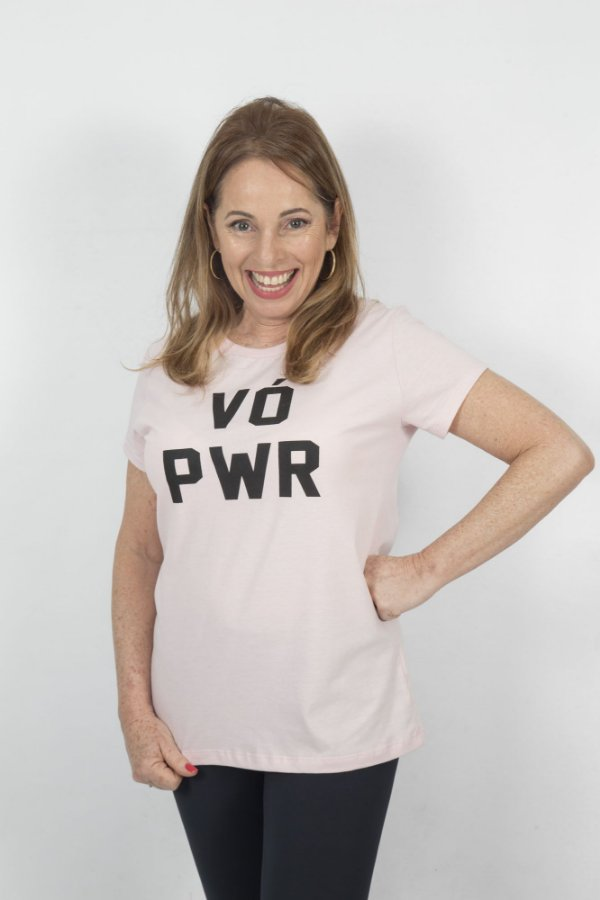 Camiseta Feminina VÓ PWR Rosa