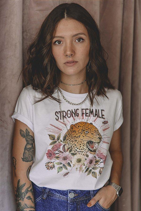 Camiseta Feminina Strong Female Branca