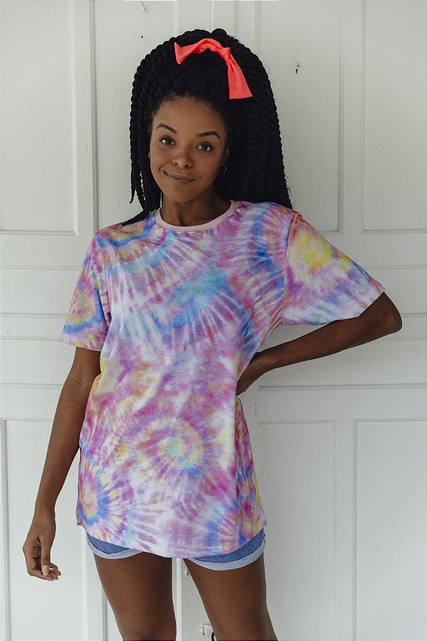 Camiseta Alongada Tie Dye