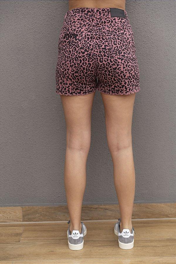 Shorts Jeans Onça Rosa