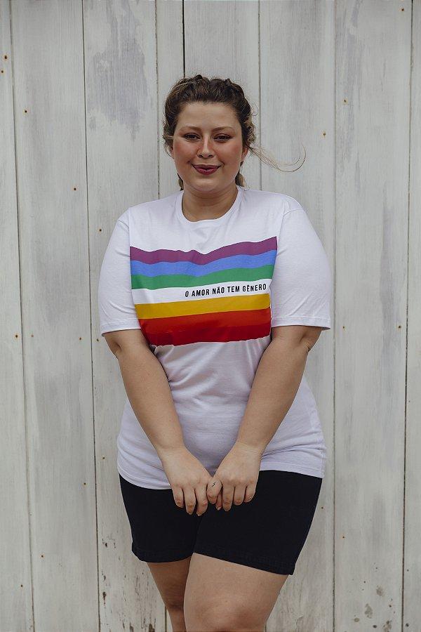Camiseta Boyfriend Amor Não Tem Gênero Branca