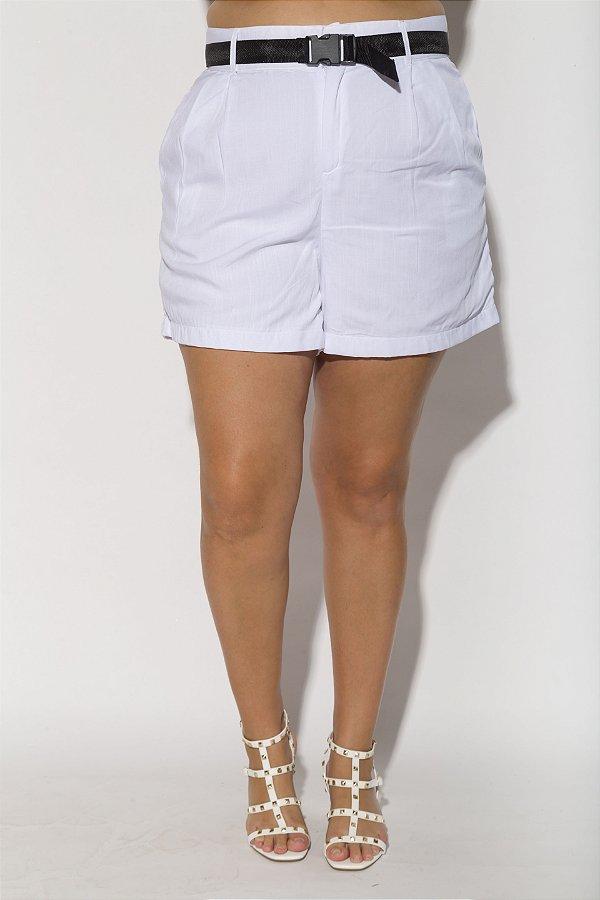 Shorts Alfaiataria Viscolinho Branco