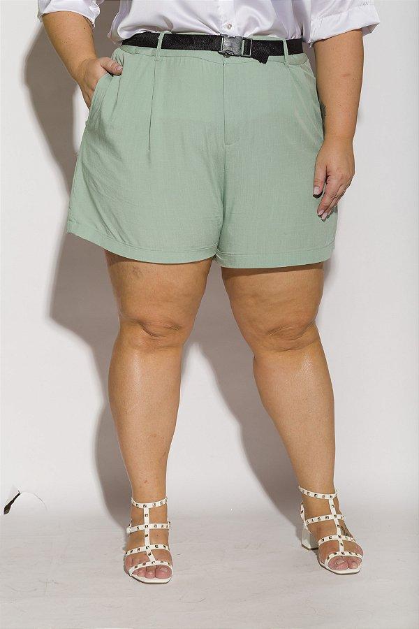 Shorts Alfaiataria Viscolinho Menta