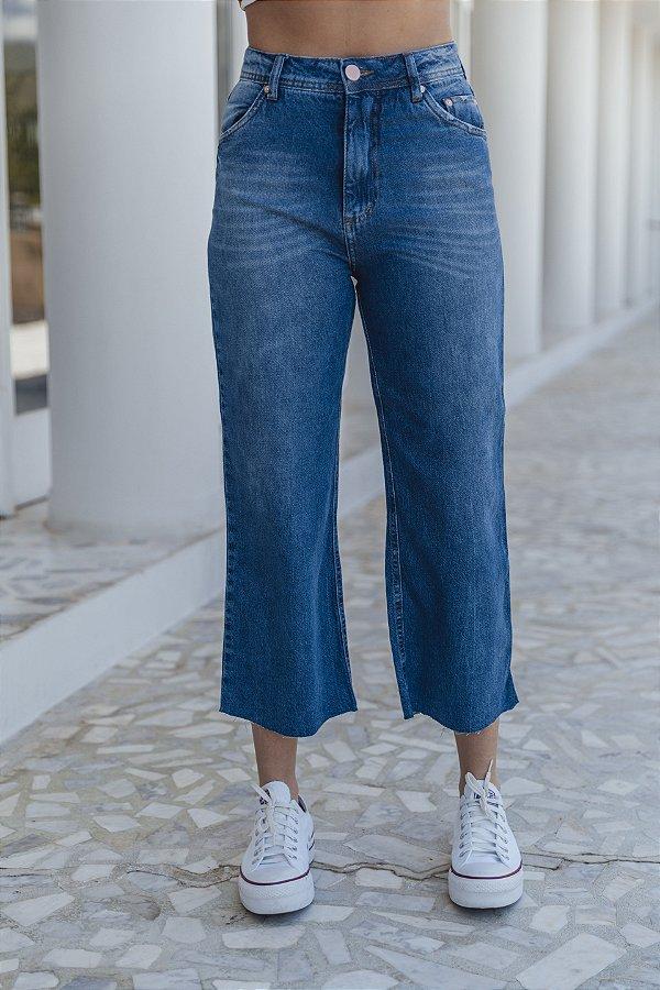 Calça Jeans Cropped Flare Bárbara Jeans