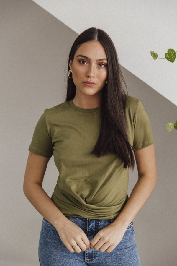 Blusa Transpassada Verde