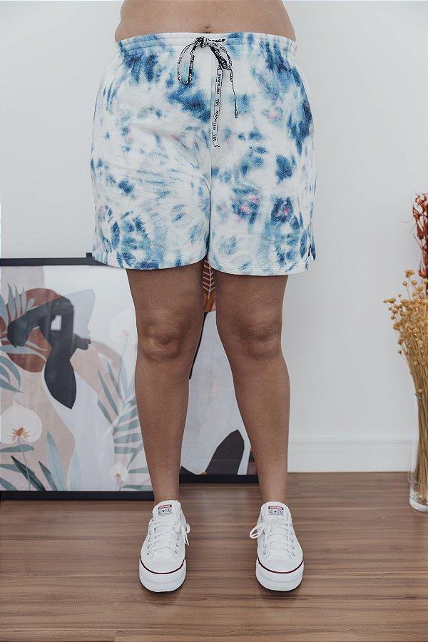 Shorts Tie Dye Azul