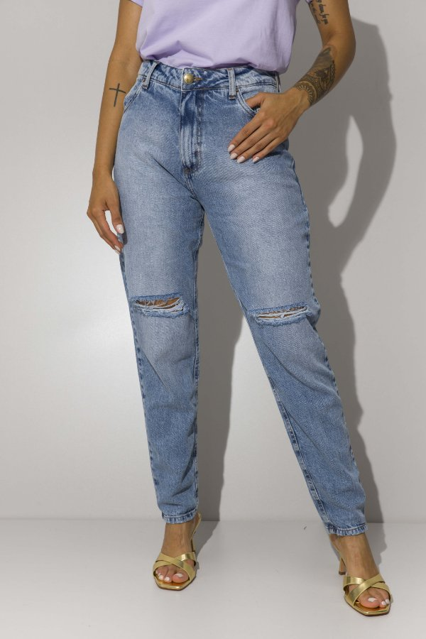 Mom Jeans Reta Destroyed Julia