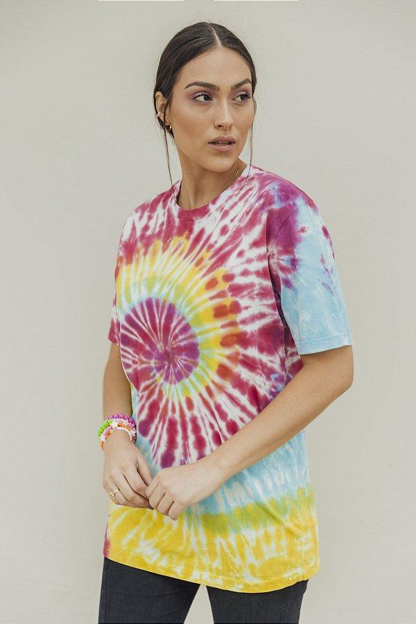 Camiseta Feminina Tie Dye Espiral