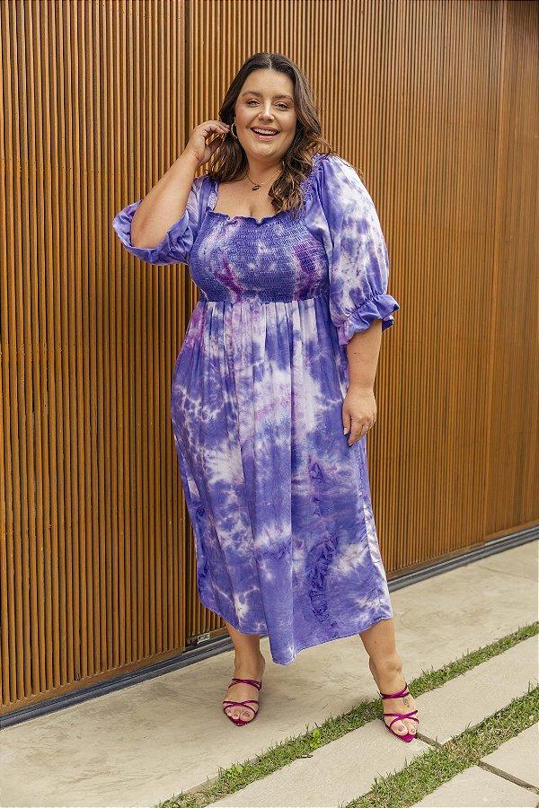 Vestido Jess Tie Dye Violeta