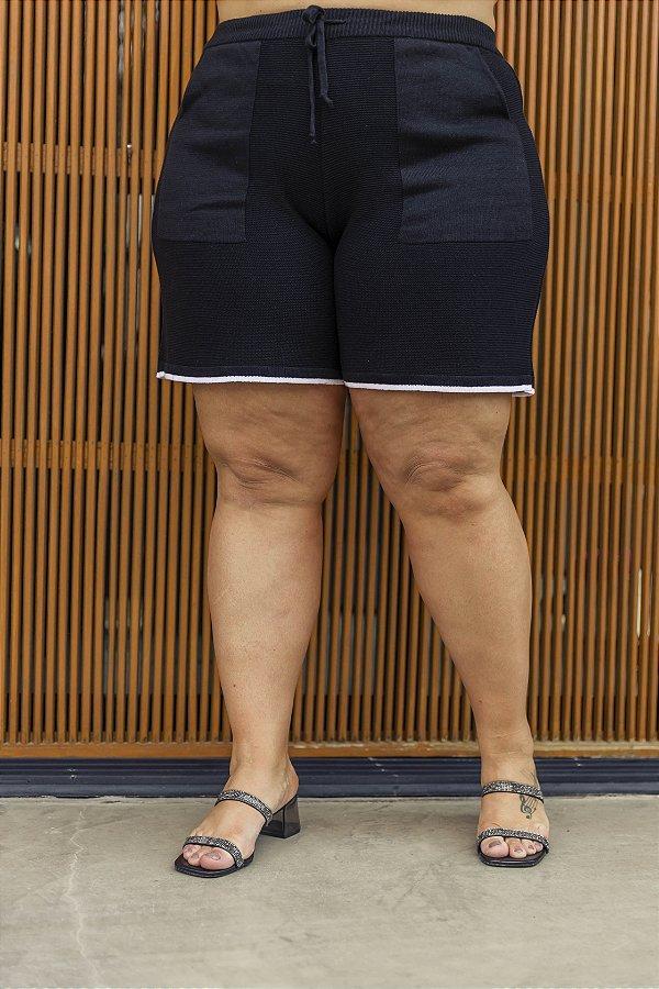 Shorts Tricot Preto