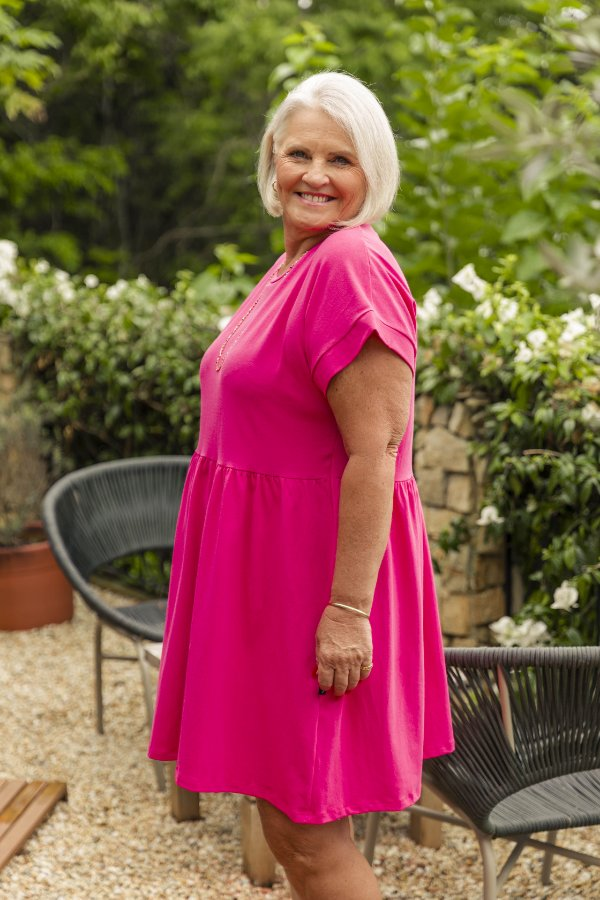 Vestido Camadas Curto Rosa