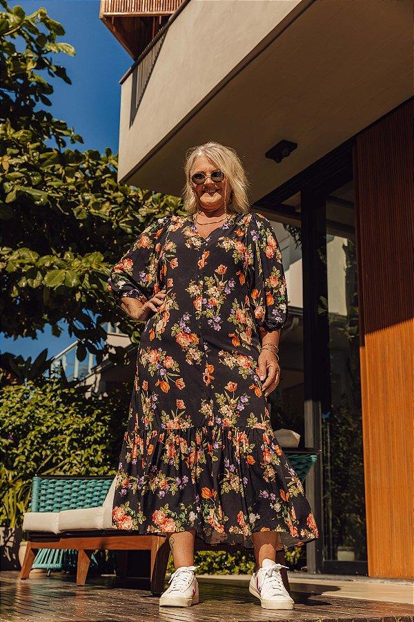 Vestido Luiza Floral Dark