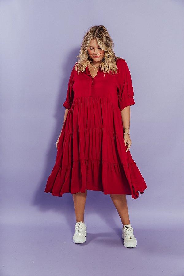 Vestido Alfaiataria Vermelho