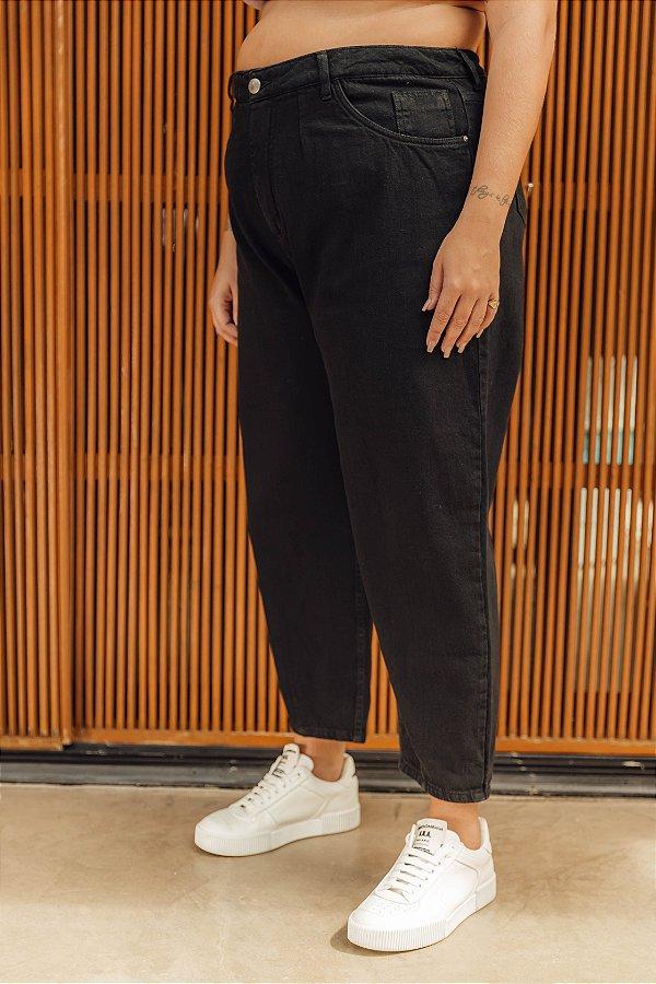 Calça Jeans Baggy Preta