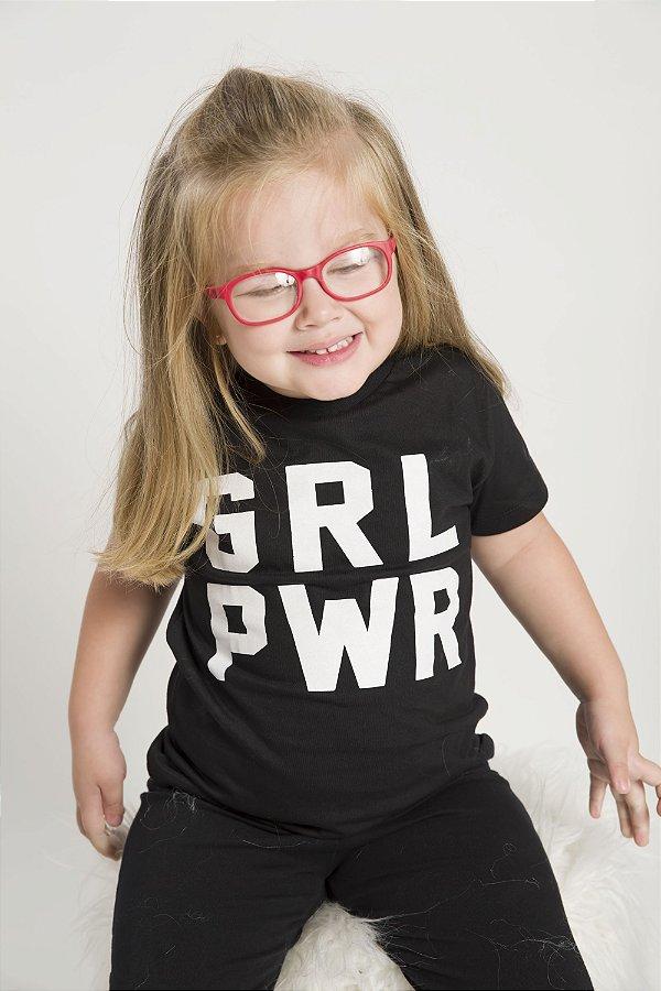 Camiseta Infantil GRL PWR Black