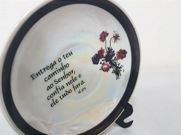 mini Prato com versículo
