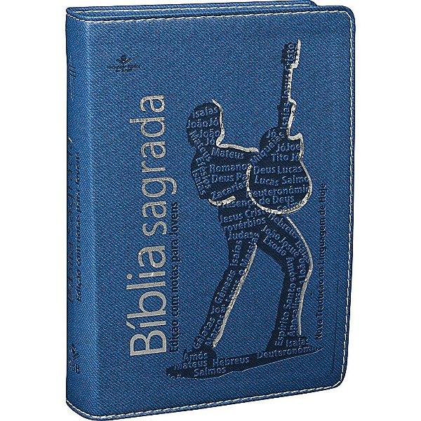 Bíblia Sagrada com notas para jovens- Azul