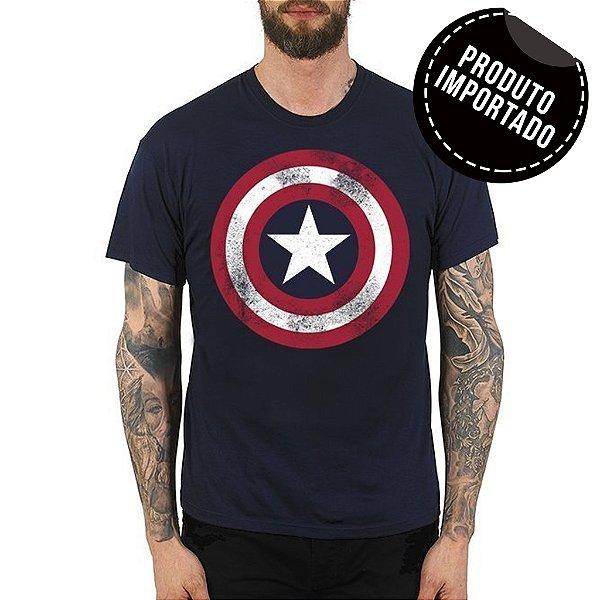 Camiseta Masculina Escudo Capitão América