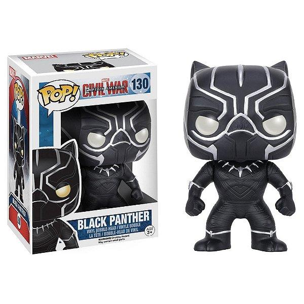 Boneco Funko Pop Marvel Civil War Pantera Negra