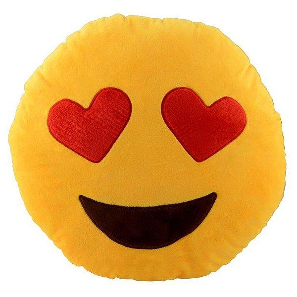 Almofada Emoji Apaixonado 30cm