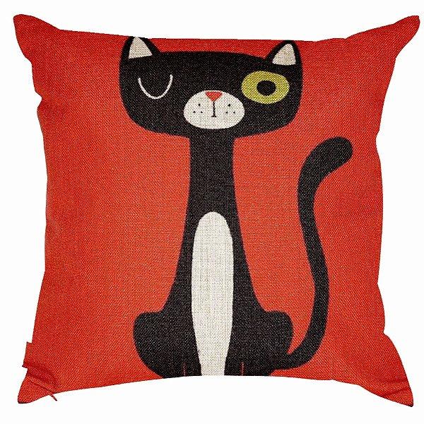 Almofada Black Cat 45x45