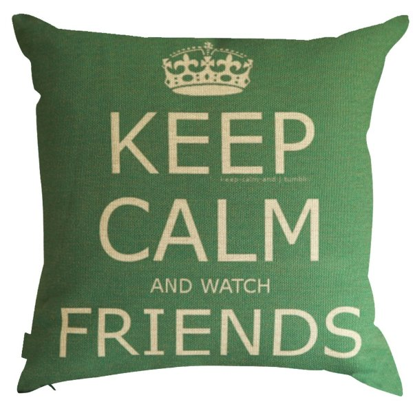 Almofada Keep Calm and Watch Friends 45x45