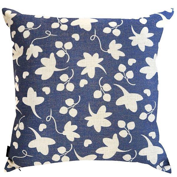 Almofada Flores Azuis 45x45
