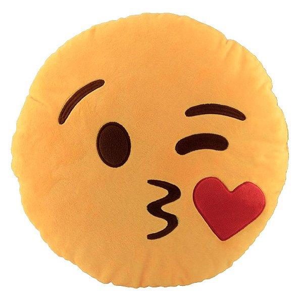Almofada Emoji Beijinho 30cm