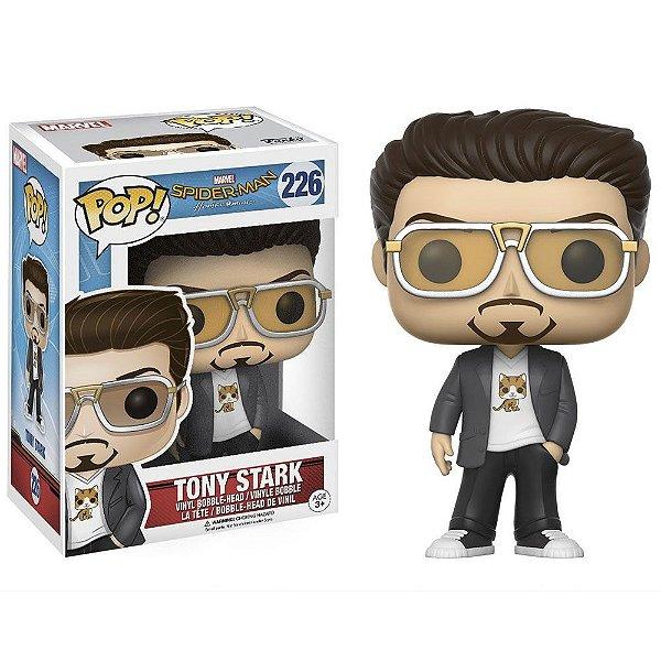 Boneco Funko Pop Marvel Homem Aranha de Volta Ao Lar Tony Stark
