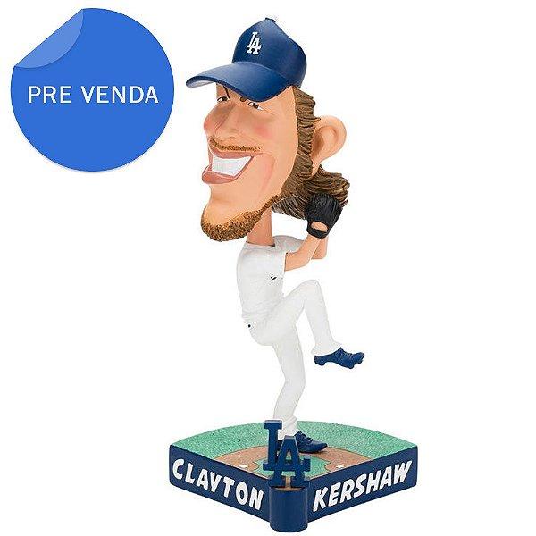 Boneco Bobblehead MLB Caricatura Los Angeles Dodgers Clayton Kershaw