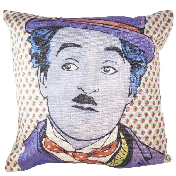 Almofada Charlie Chaplin Pop Art 45x45