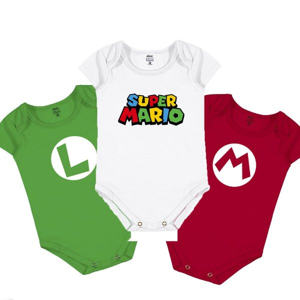 Kit Body Infantil Mario Bros
