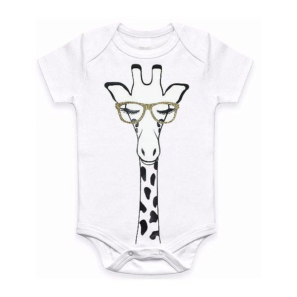 Body Infantil Girafa de Óculos