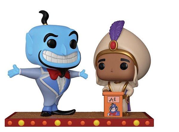 Funko Pop Disney Aladdin - Momento Gênio e Aladdin