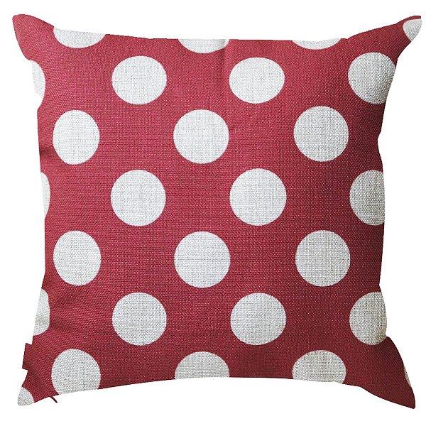 Almofada Vermelha de Bolinha 45x45