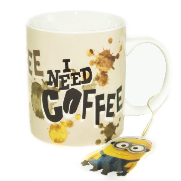 Caneca Minions I Need Coffee 300ml