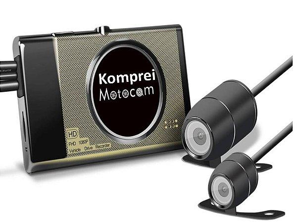 Câmera E Filmadora Dvr C/ Gps P/ Carro E Moto - Exclusivo