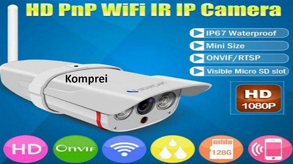 Câmera WIFI 2 MP Resistente a água e poeira - Exclusiva