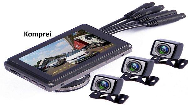 Câmera Filmadora Automotiva Dvr Hd Veicular com 4 Lentes