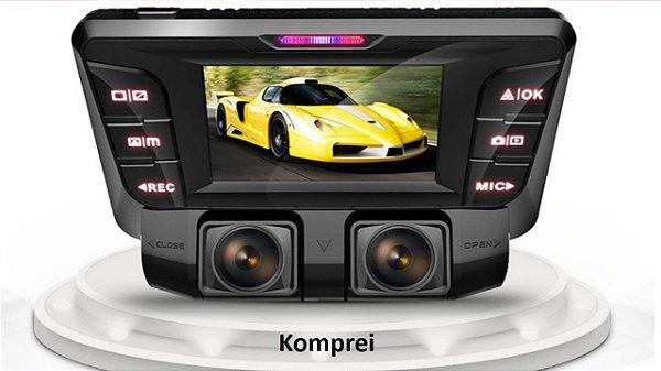 DVR Lente Dupla Full HD 1080P WIFI Auto Câmera Gravador de Vídeo 170 + 170 Graus