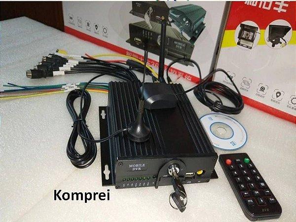 Dvr Veicular 1080p 4 Canais  + 4 Câmeras HD