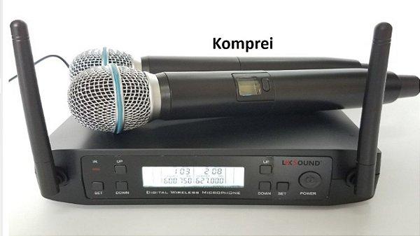 Microfone Duplo Uhf - 100 Metros